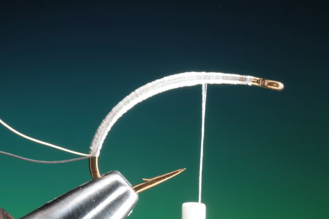6. Build up a slight forward taper on the fly body with tying thread.