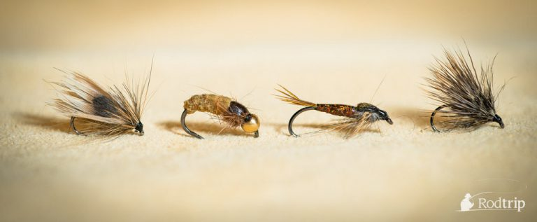 Set of flies tied on Tunca Expert hooks.